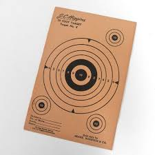 black friday shooting target vintage national rifle association official 50 ft small bore