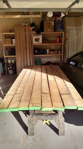 table top glue up arts and crafts dining table and chairs 1 design and table top
