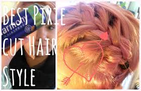pixie braid hairstyles easy braided hairstyle for pixie cuts youtube