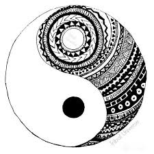 drawn sykol yin yang pencil and in color drawn sykol yin yang