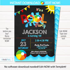 pool party invitations 12 new pool party photo invitations davidhowald