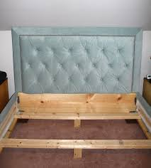 Bed Frames Headboards Diamond Tufted Headboard With Nailhead Trim And Matching Bed Frame