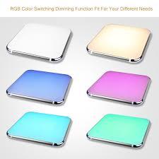 What Temperature Light For Living Room Modern 30w Rgb Led Ceiling Light Flush Mount Pendant Lamp Lighting
