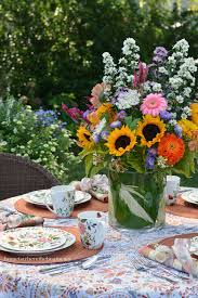 an alfresco table with woodland floral by mikasa home