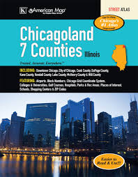 Chicago Colleges Map by Chicagoland 7 Counties Atlas American Map Company