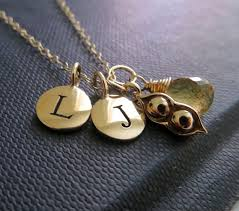 two peas in a pod jewelry personalized necklace two peas in a pod necklace initial peas in a