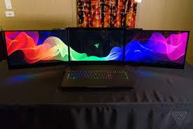 razer u0027s gaming laptop prototype has three huge fold out screens