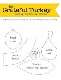 grateful turkey thanksgiving day craft for doug