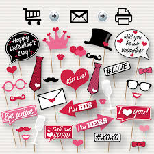 valentine u0027s day printable photo booth props
