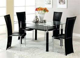 black dining table chairs dinner table chair glass dining table and chairs set prepossessing
