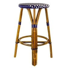 Navy Bistro Chairs Bar Stool French Bistro Rattan Counter Stools 12 Darling French