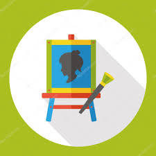 Painting Icon Draw Painting Flat Icon Icon Element U2014 Stock Vector Yitewang