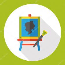 draw painting flat icon icon element u2014 stock vector yitewang