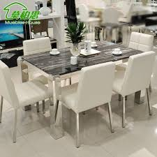 marble and stainless steel dining table mobo si simple white marble dining table stainless steel dragon foot