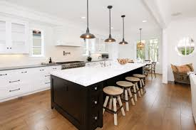 kitchen cozy laminate wood flooring with bar stools and super
