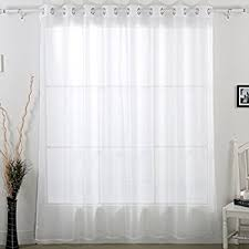 Curtain Width Per Curtain Amazon Com Miuco Moroccan Embroidered Semi Sheer Curtains Faux