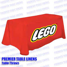 6ft Imprinted Table Cover Custom Trade Show 6 U0027 Printed Table Throw 42
