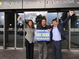 Karlsruhe Baden Baden Ryanair Verkündet Sommerflugplan 2018 Für Karlsruhe Baden Baden