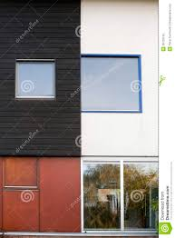Different House Designs Elegant Orange Exterior Color Design With Wooden Materials Inside