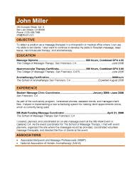 Massage Therapy Resume Samples by Free Massage Therapist Resumes Download Free Resume Templates In