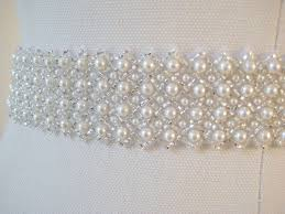 wedding dresses belts bridal pearl sash czechoslovakia ivory pearl wedding dress