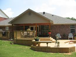 Backyard Decks Ideas Exteriors Marvelous Outdoor Small Deck Ideas With Green Padded