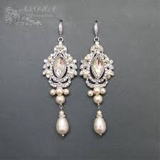 vintage wedding earrings chandeliers bridal chandelier earrings wedding earrings rhinestone earrings