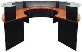 Glass Modern Desk Circular Glass Top Reception Desk
