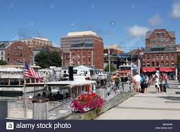view of long wharf pier and portland maine usa waterfront long