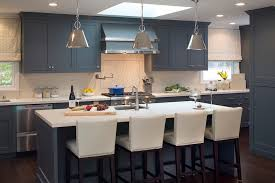 slate blue kitchen cabinets blue center kitchen island design ideas
