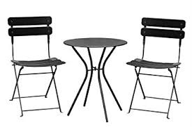 Steel Bistro Chairs Living Express Outdoor Furniture Set 3 Bistro