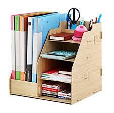rangement documents bureau étagère rangement diy organisateur de bureau en bois 4 planche 2