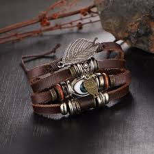 leather bracelet jewelry images Ancient turkish eye leather bracelet jewelry 6 lynx boho jpg