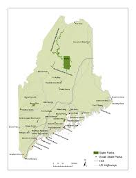 Maine State Map by Emergency Preparedness Evacuation Issues