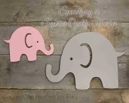 Wooden Nursery Decor by Wooden Elephant Cut Out Nursery Wall Decor Painted Silhouette
