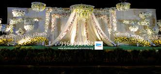 Wedding Stage Decoration Wedding Flower Stage Decorators In Hyderabad Shobha U0027s Entertainments