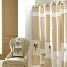 Curtains With Rings At Top Bathroom Shower Curtains Tropical Creamy Inch Curtain F Decoration
