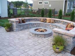 Paver Patio Design Tool Paver Patio With Firepit And All Around Sitting Wall Architectural