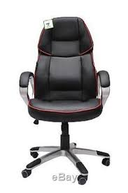 Red Leather Office Chair Black And Red Leather Office Chair Racing Gaming Tilt Swivel