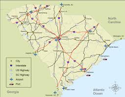 South Carolina County Map South Carolina Highway