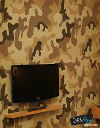 peel and stick wall murals removable wall murals desert brown military camo camouflage wall mural 6062