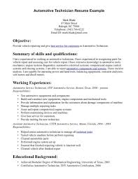 Skills Summary Resume Example by Auto Mechanic Resume Sample With Excellent Summary Of Skills And