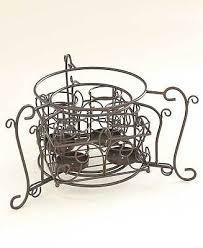 bronze elegant buffet organizer caddy silverware flatware plates