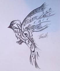 song bird tattoo design by cy6erwolf on deviantart