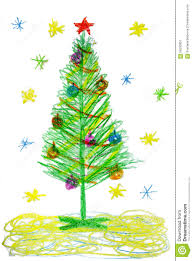 children drawing tree stock illustration illustration of