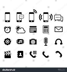 phone icon set stock vector 153113099 shutterstock
