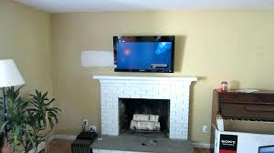 Decorations Tv Over Fireplace Ideas by Mounted Tv Over Fireplace Nook Ideas On Fireplace Remodel