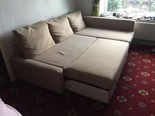 ikea friheten corner sofa bed with storage skiftebo beige ebay