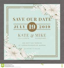 Invitation Card Samples Save The Date Wedding Invitation Card Template With Hand Drawn