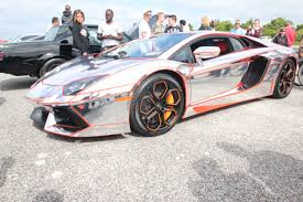wrapped lamborghini lamborghini chrome sal showcases his chromed out lambo at the